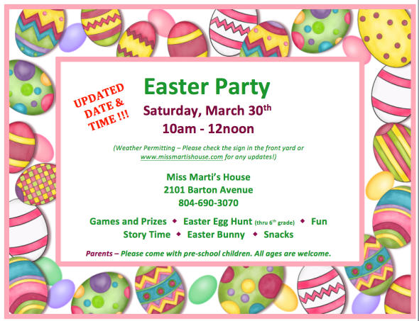 Updated Easter Flyer