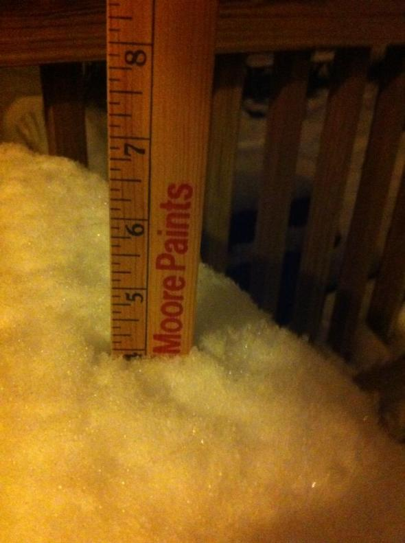 snow 4inches