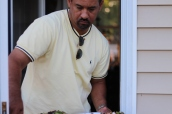 Mark delivering the meal