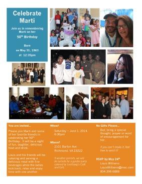 Marti's 50th Invite