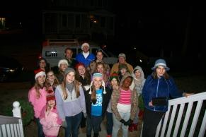 Caroling at Miss Marti's House