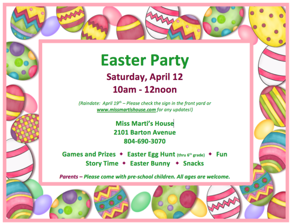 Easter 2014 flyer