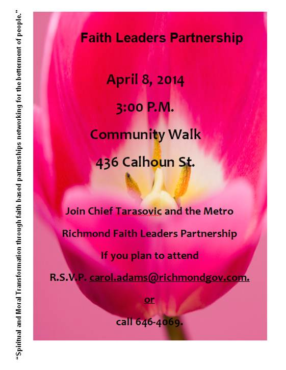 Faith Leaders Community Walk - April