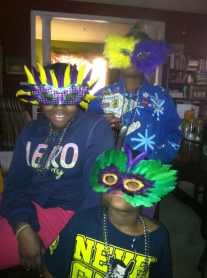 Neighborhood Kids Help Me Prep for Mardi Bras RVA