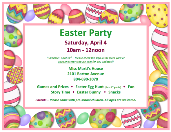 Easter 2015 flyer png